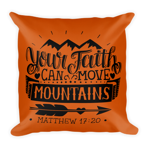 Matthew 17:20 Premium Pillow