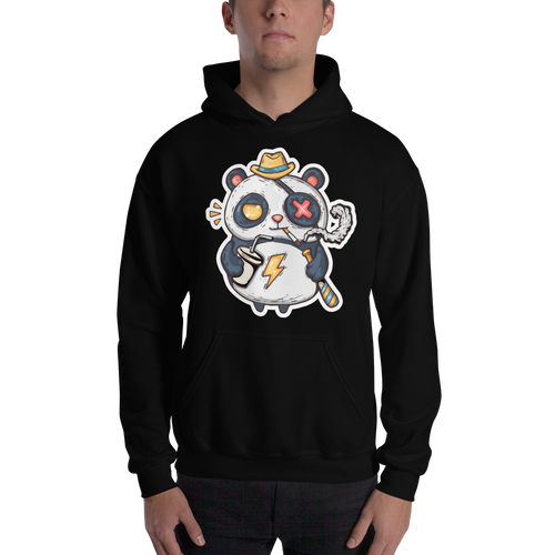 Eye Patch Panda Men's Hoodies