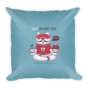 Sweet Morning Yoga Premium Pillow