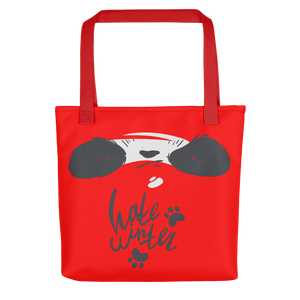 Hate Winter Smirk Panda Tote bag