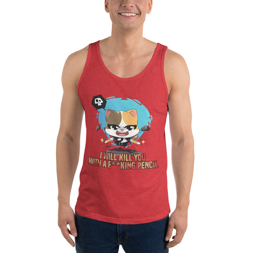 Kill You With A Pencil Men's Tank Tops