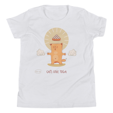 Load image into Gallery viewer, Cats Love Yoga Youth Tee's