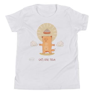 Cats Love Yoga Youth Tee's