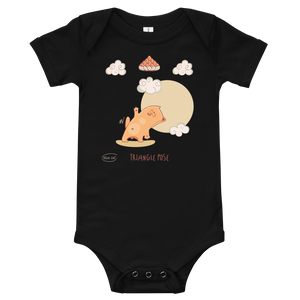Triangle Pose Yoga Baby Bodysuit