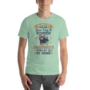 A Happy Face Waiting For You At Home Men's Tee's