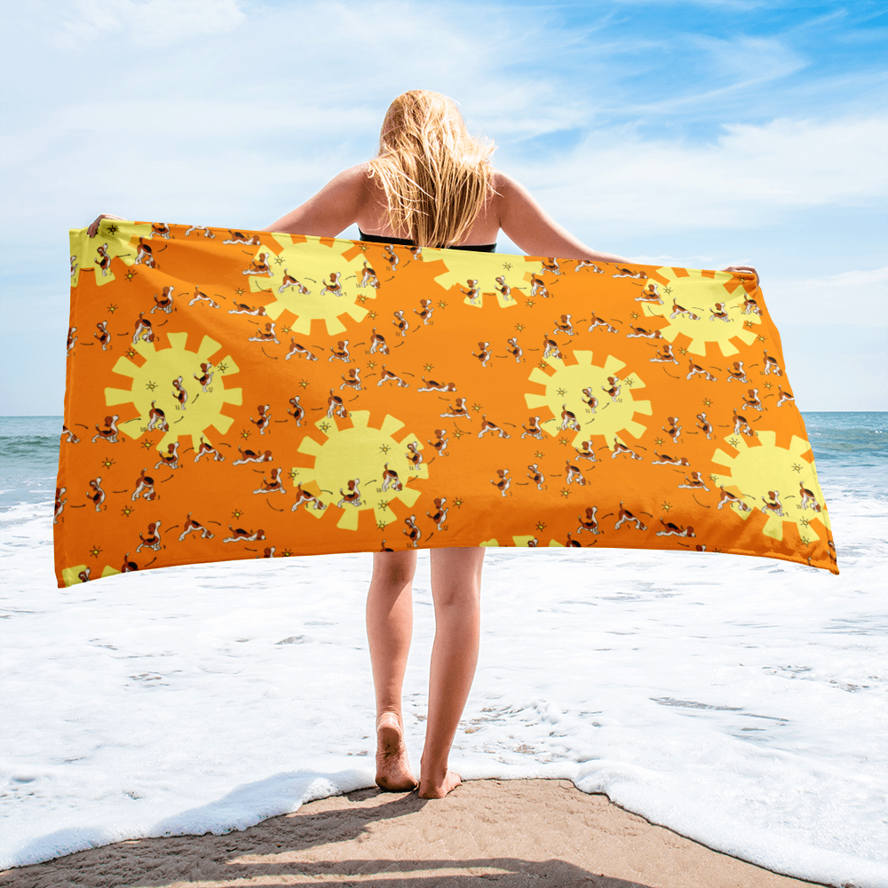 Sun Salutation Beach Towel