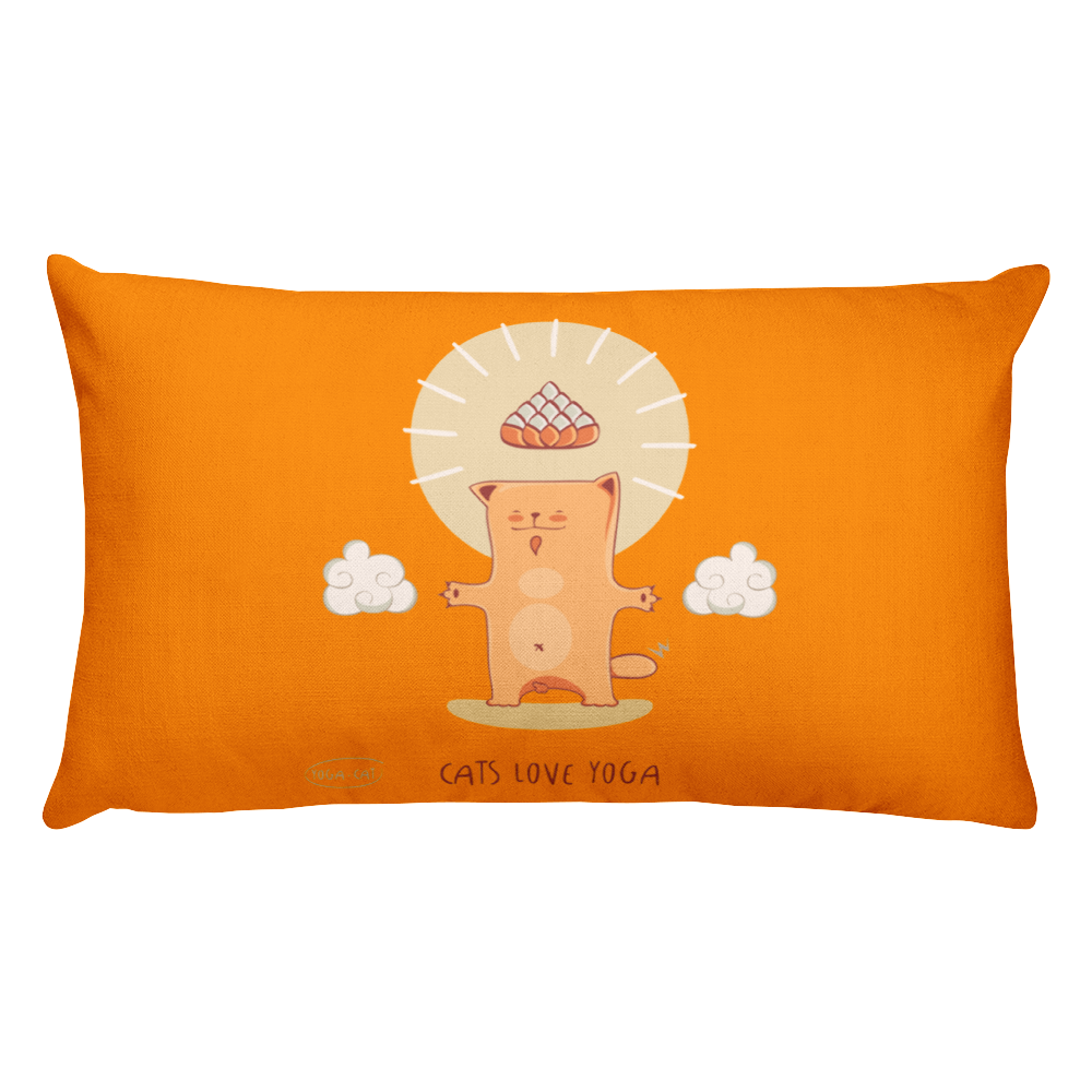 Cats Love Yoga Premium Pillow