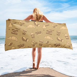 Mocha Coffee Beach Towel