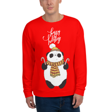 Load image into Gallery viewer, Happy Holiday Panda Men's Sweatshirt