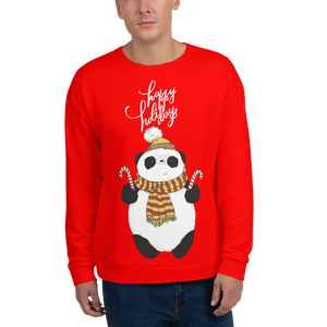 Happy Holiday Panda Men's Sweatshirt