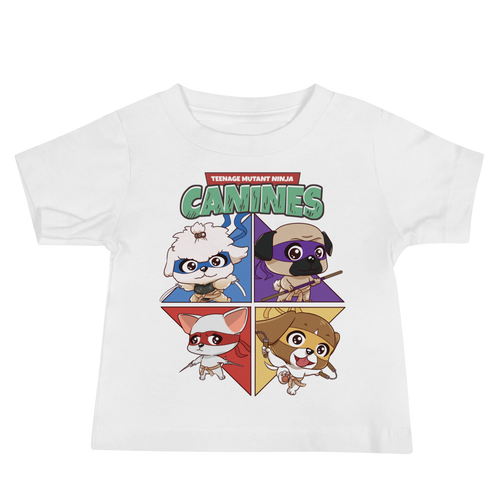 Teenage Mutant Ninja Canines Baby Tee's