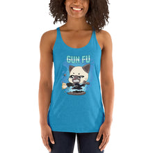 Load image into Gallery viewer, Cat Wick Gun Fu Women's Tank Tops