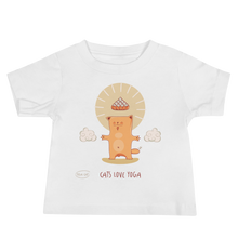 Load image into Gallery viewer, Cats Love Yoga Baby Tee's