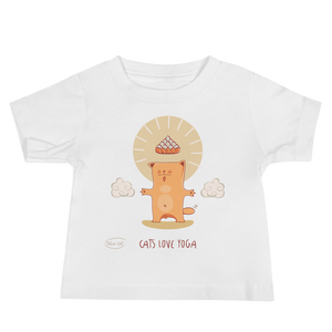 Cats Love Yoga Baby Tee's