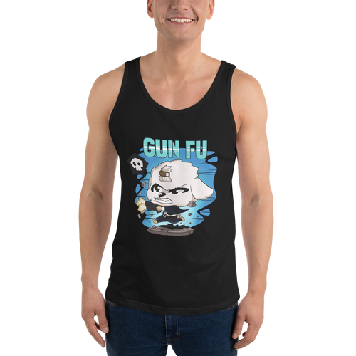 Dog Wick Gun Fu Men's Tank Tops