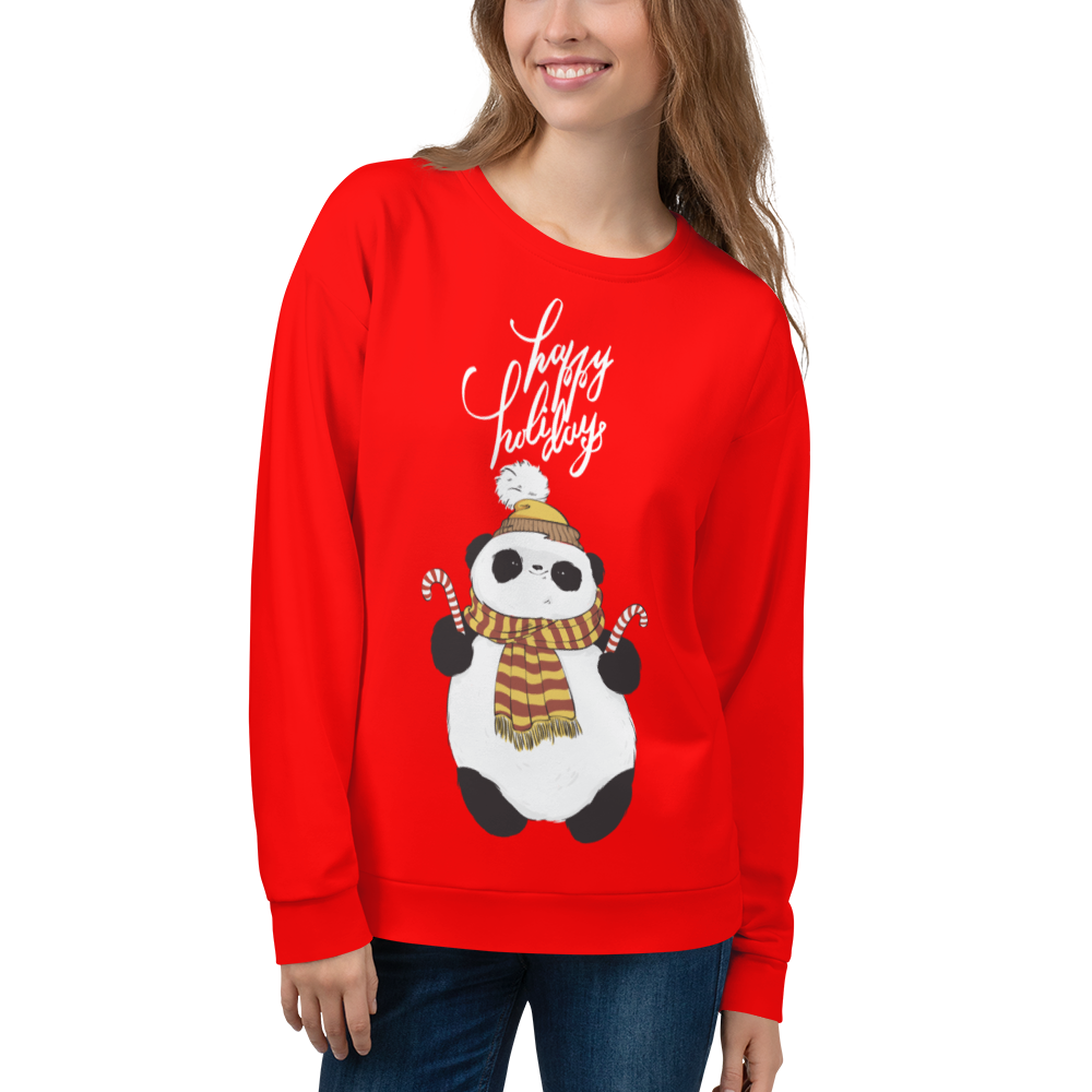 Happy Holiday Panda Women's Sweatshirt