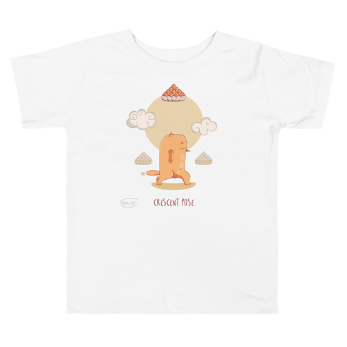 Cresent Pose Yoga Toddler Tee's