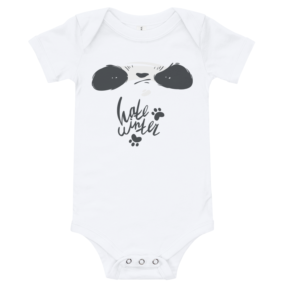 Hate Winter Smirk Panda Baby Bodysuit