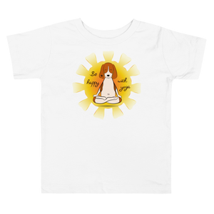 Be Happy With Yoga Toddler Tee's