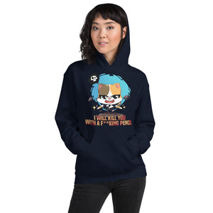 Kill You With A Pencil Women's Hoodies