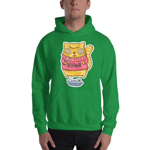 Killer Cat Men's Hoodies