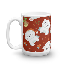 Load image into Gallery viewer, Polar Bear Holiday Red Mug