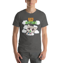 Load image into Gallery viewer, Cats Are My Kryptonite Men's Tee's