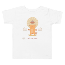 Load image into Gallery viewer, Cats Love Yoga Toddler Tee's