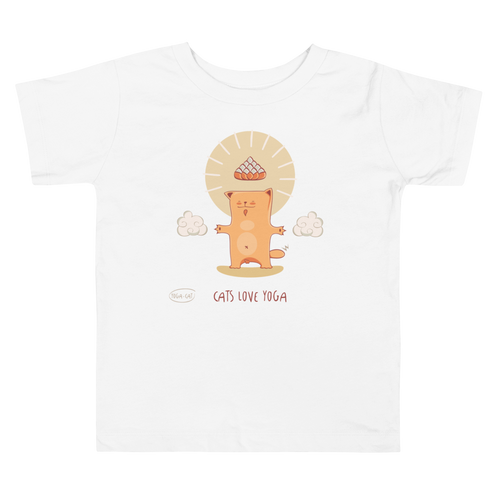Cats Love Yoga Toddler Tee's