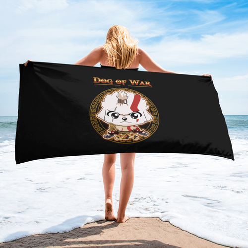 Dog Of War Beach Towels