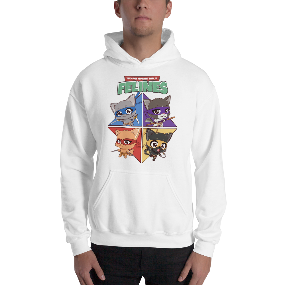 Teenage Mutant Ninja Felines Men's Hoodies