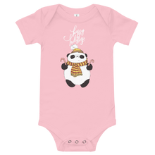 Load image into Gallery viewer, Happy Holiday Panda Baby Bodysuit