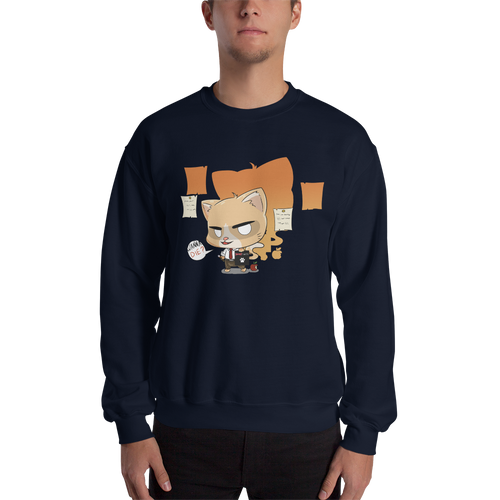 Cat Note Men's Sweatshirt