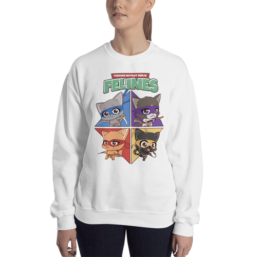 Teenage Mutant Ninja Felines Women's Sweatshirt