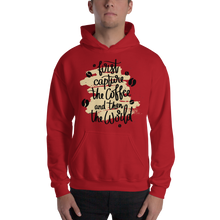 Load image into Gallery viewer, First Capture The Coffee And Then The World Men's Hoodies