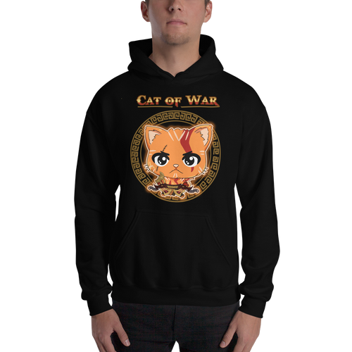 Cat Of War Men's Hoodies