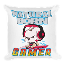 Load image into Gallery viewer, Natural Born Gamer Premium Pillow