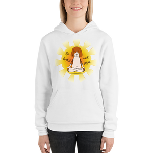 Be Happy With Yoga Women's Hoodies