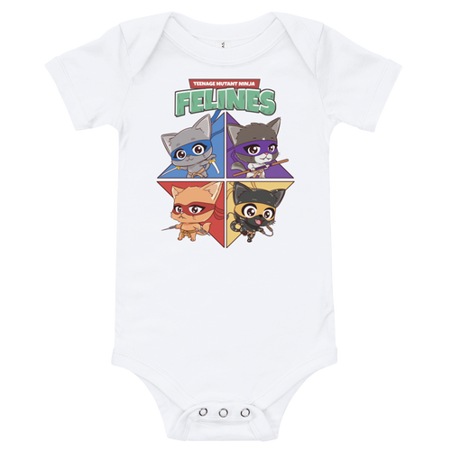 Teenage Mutant Ninja Felines Baby Bodysuit