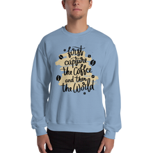 Load image into Gallery viewer, First Capture The Coffee And Then The World Men's Sweatshirt