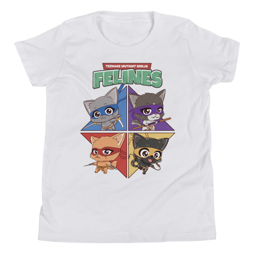 Teenage Mutant Ninja  Felines Youth Tee's