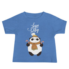 Load image into Gallery viewer, Happy Holiday Panda Baby Tee's
