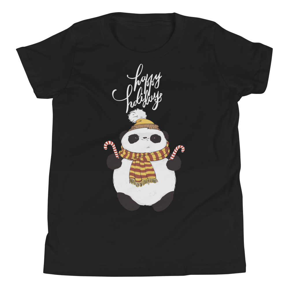 Happy Holiday Panda Youth Tee's