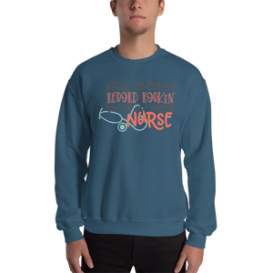 Hard Working Nurse Men's Sweatshirt