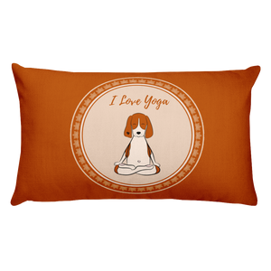 I Love Yoga Premium Pillow