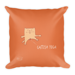 Cattish Yoga Premium Pillow