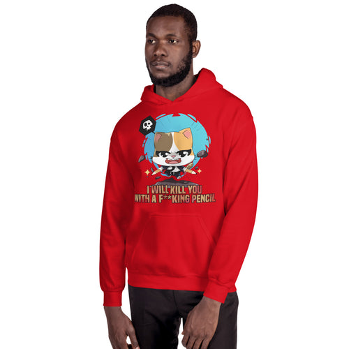 Kill You With A Pencil Men's Hoodies