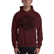 Load image into Gallery viewer, Safety First Drink With A Nurse Men's Hoodies