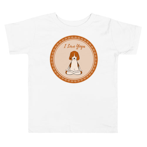 I Love Yoga Toddler Tee's
