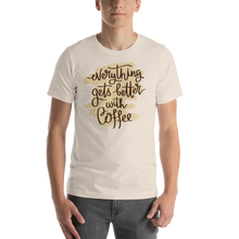 Load image into Gallery viewer, Everything Gets Better With Coffee Men's Tee's